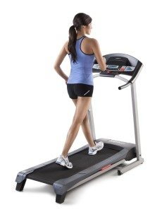 running woman on Weslo Cadence treadmill