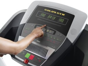 golds gym trainer 720 treadmill control panel
